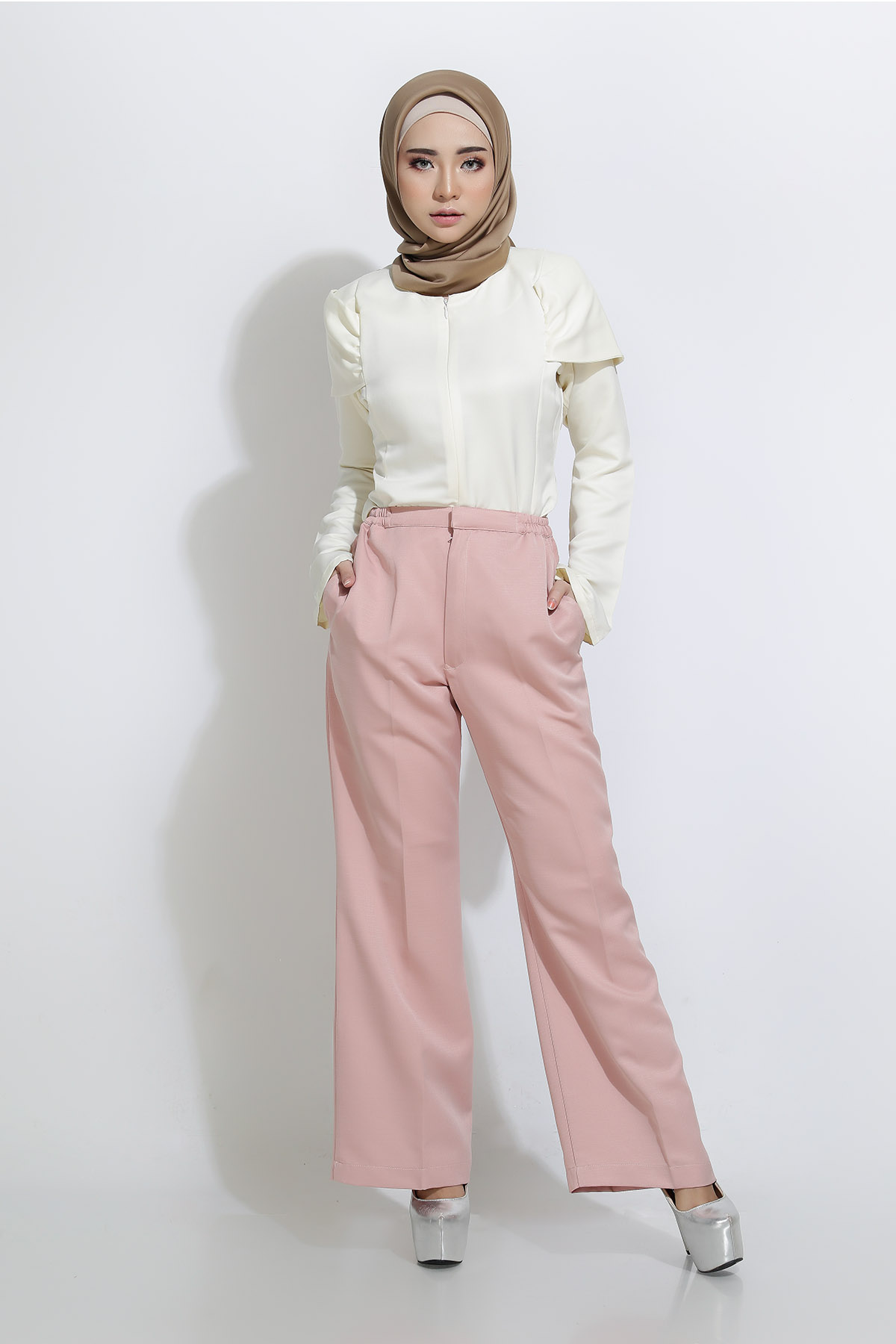 Bootcut Dusty Pink