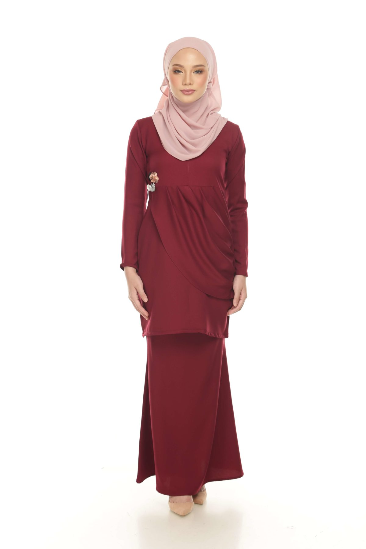 Nirmala Maroon Cranberry