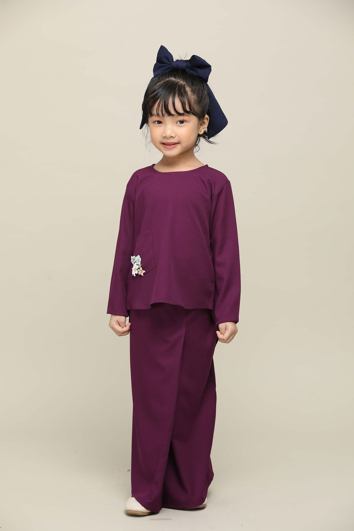 Sri Mersing Kids Dark Purple