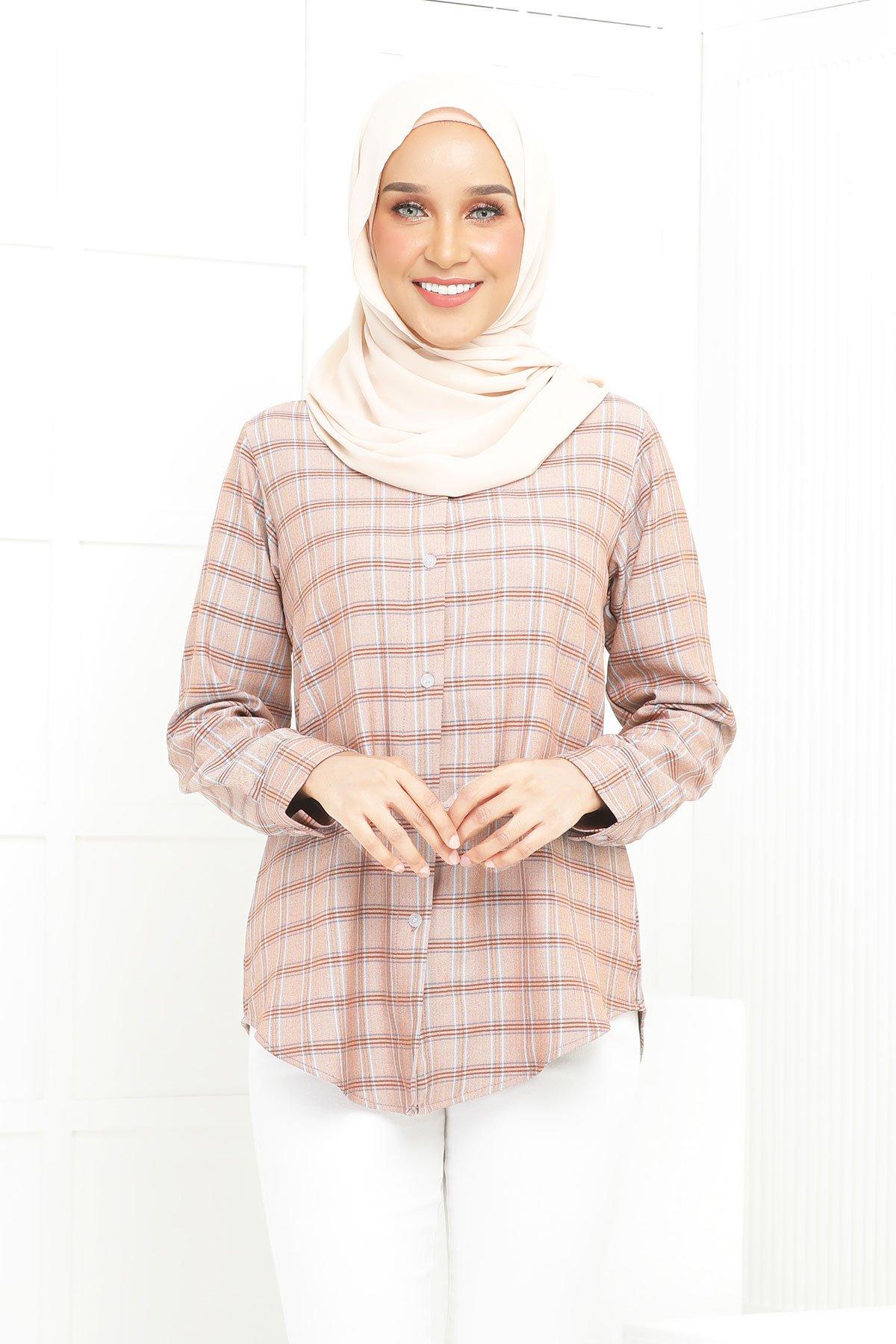 Wardina Brown Checkered