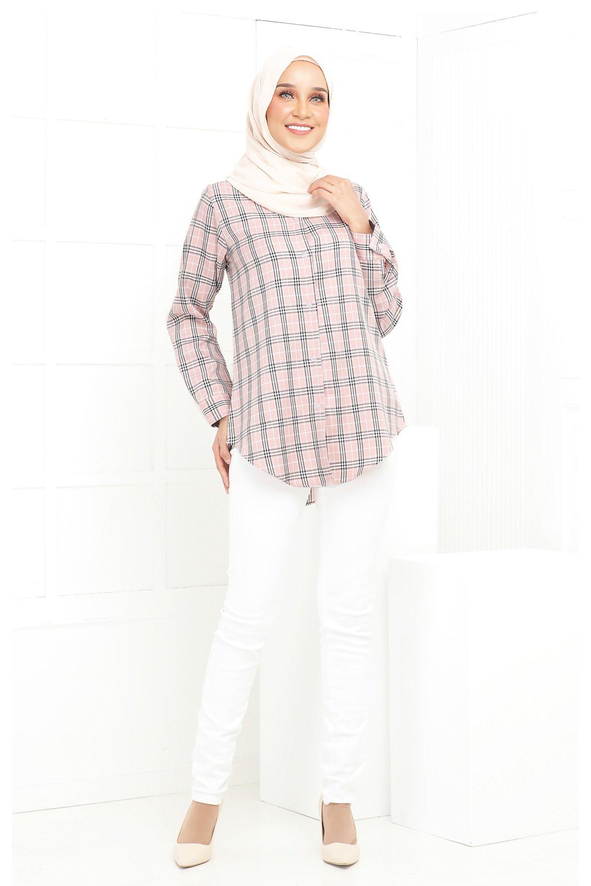 Wardina Pink Checkered