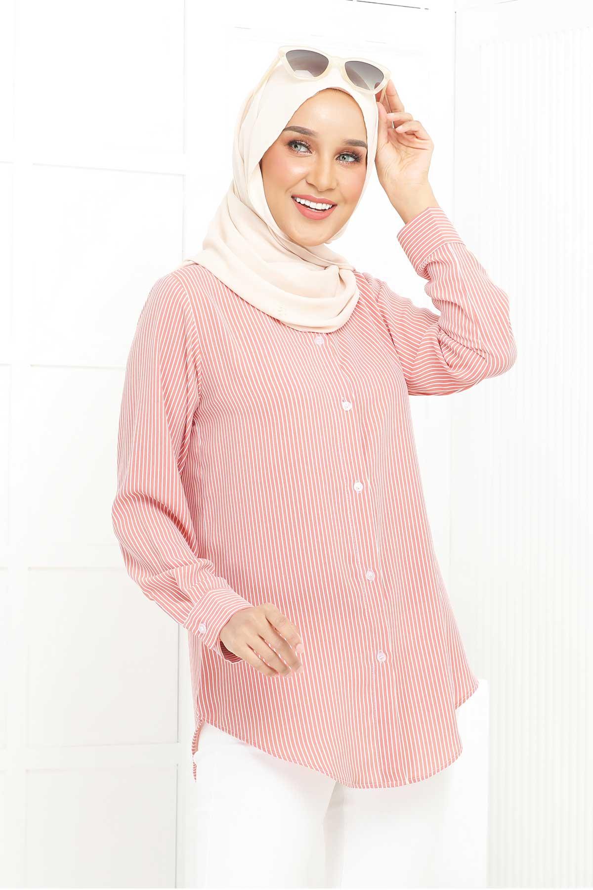 Wardina Pink Stripe