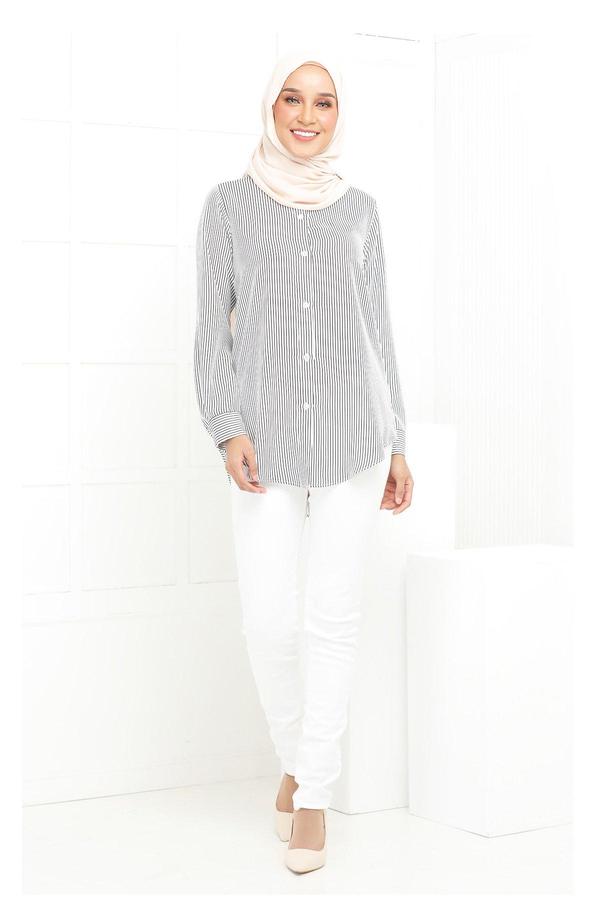 Wardina White Stripe