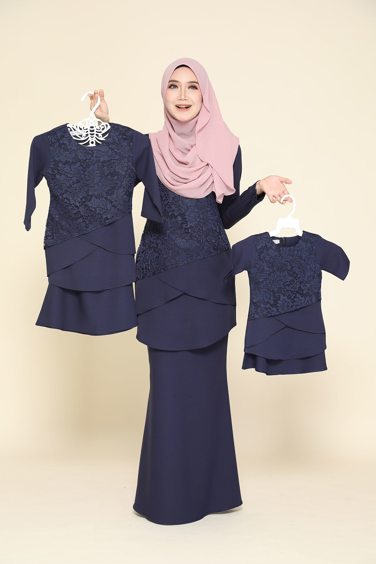 Kurung Fatimah Kids Navy Blue