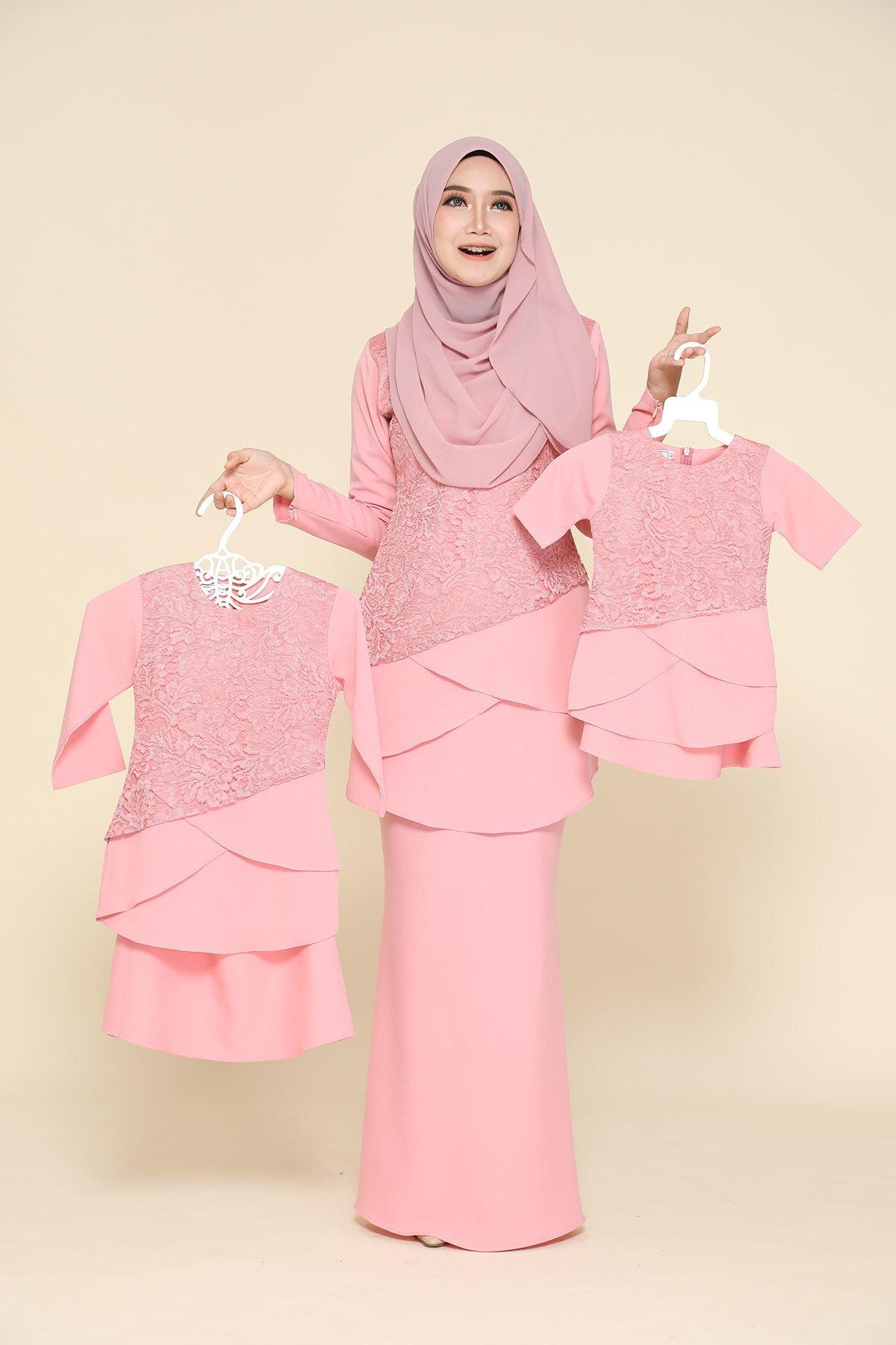 Kurung Fatimah Kids Pink