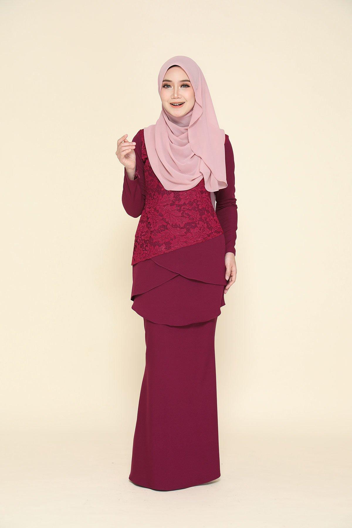 Kurung Fatimah Marron
