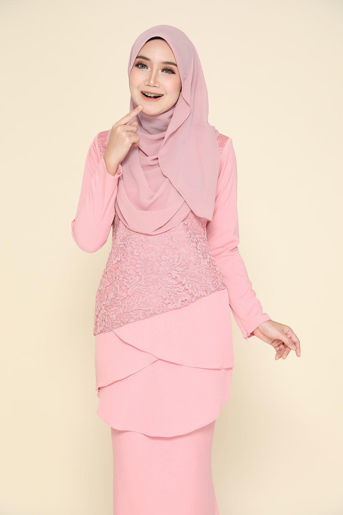 Kurung Fatimah Pink