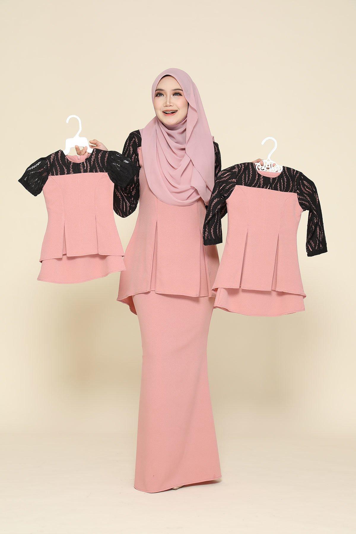 Kurung Zahraa Kids Soft Pink