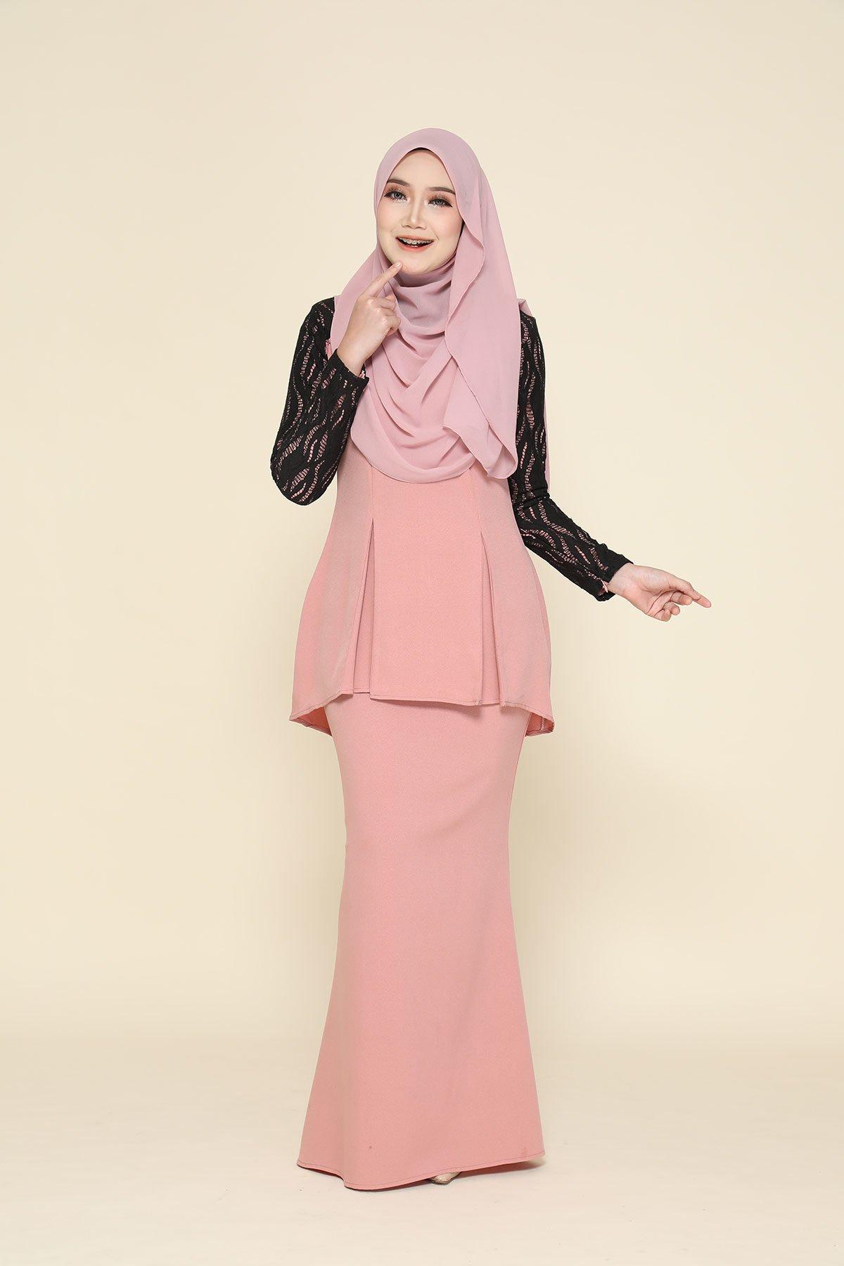 Kurung Zahraa Soft Pink