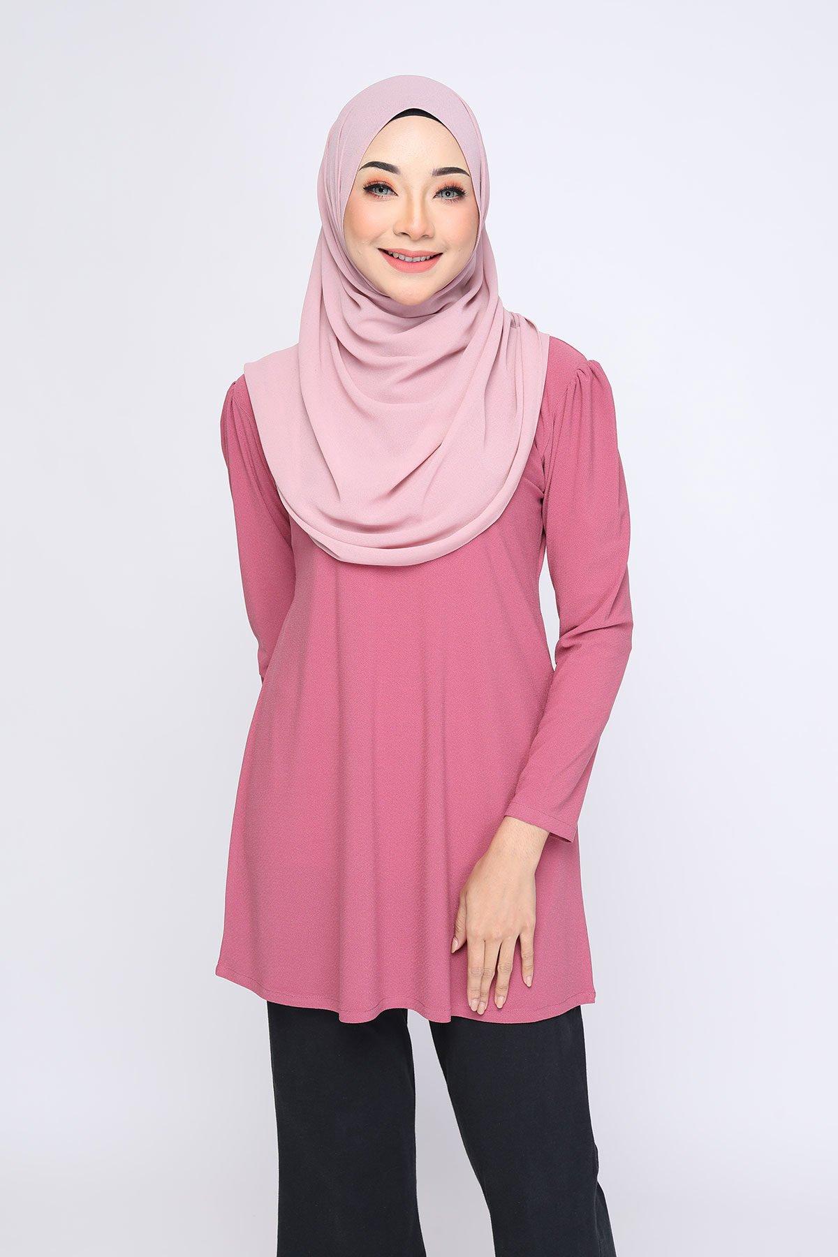 Aisyah Dusty Dark Pink