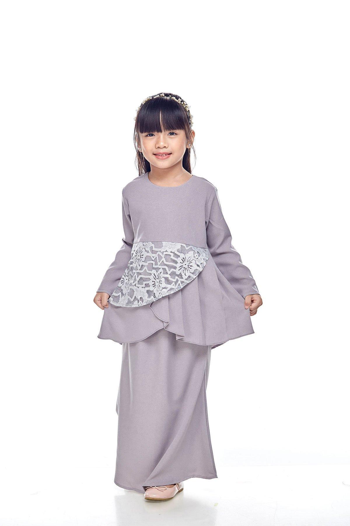 Tiana Peplum Kids Grey