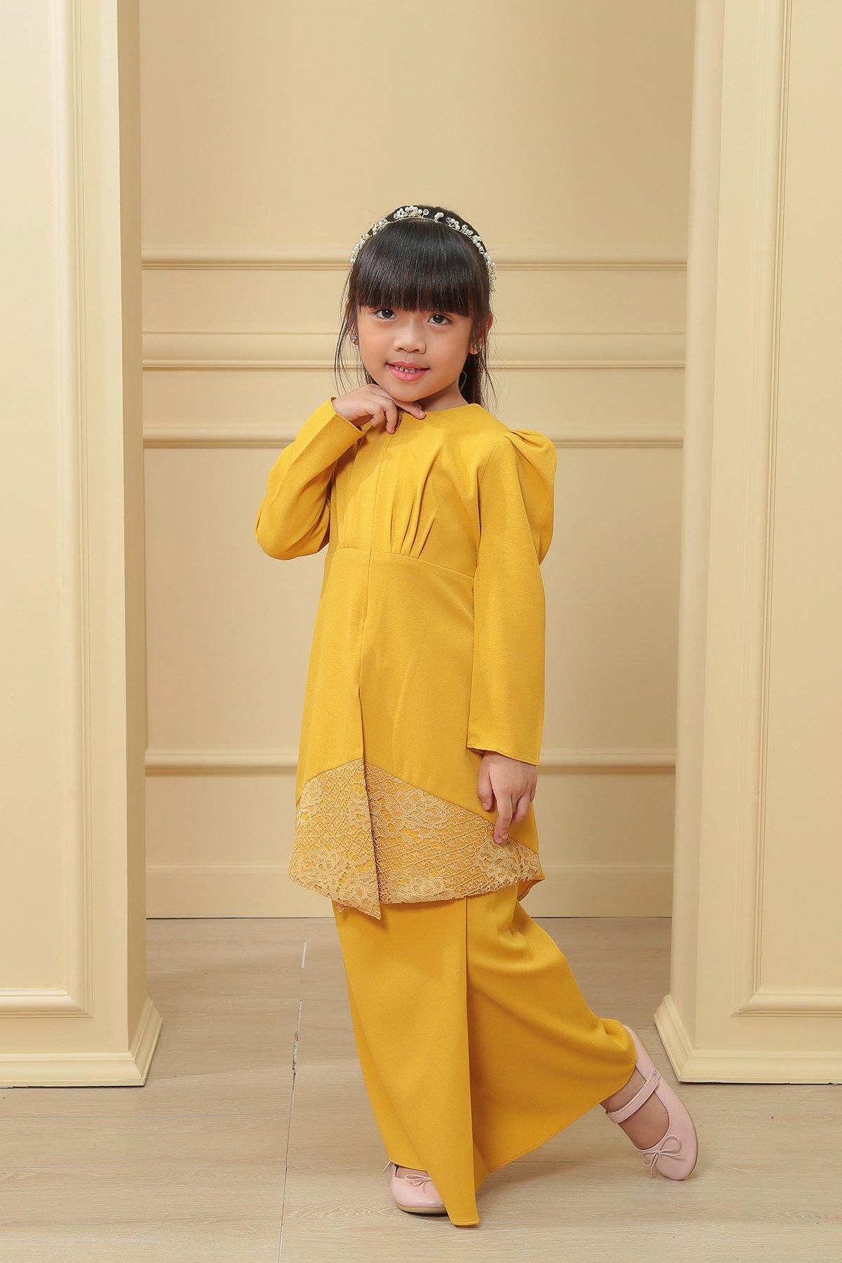 Kebaya Belle 3.0 Kids Mustard