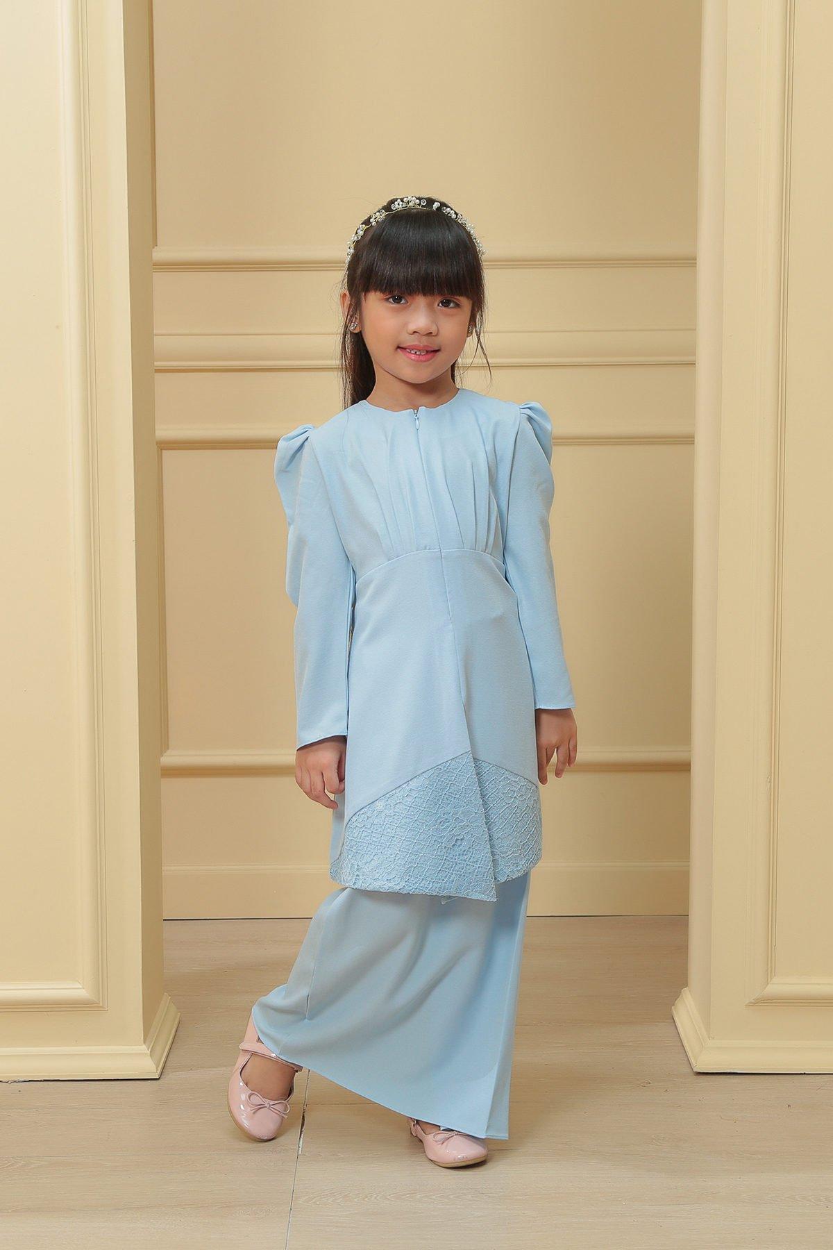 Kebaya Belle 3.0 Kids Sky Blue