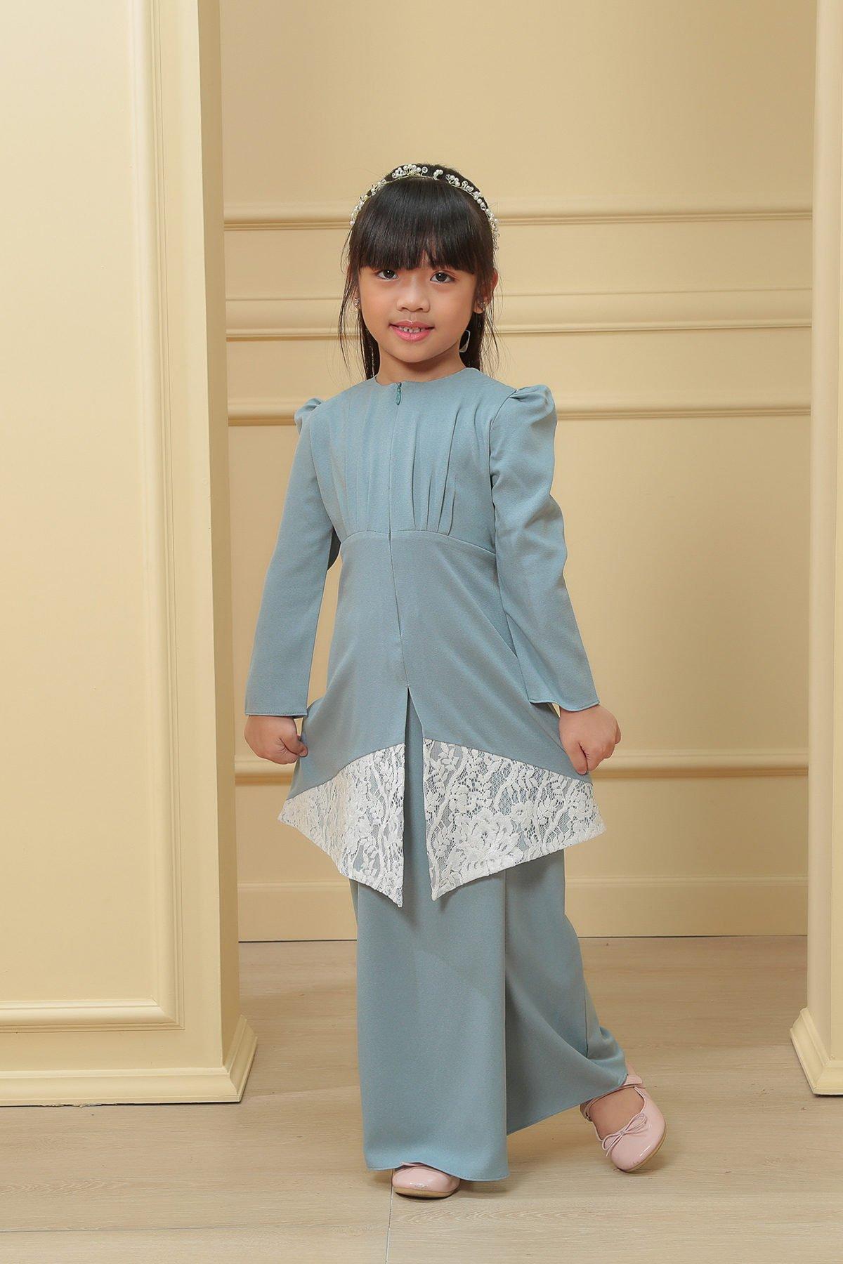 Kebaya Belle 2.0 Kids Blue Ocean