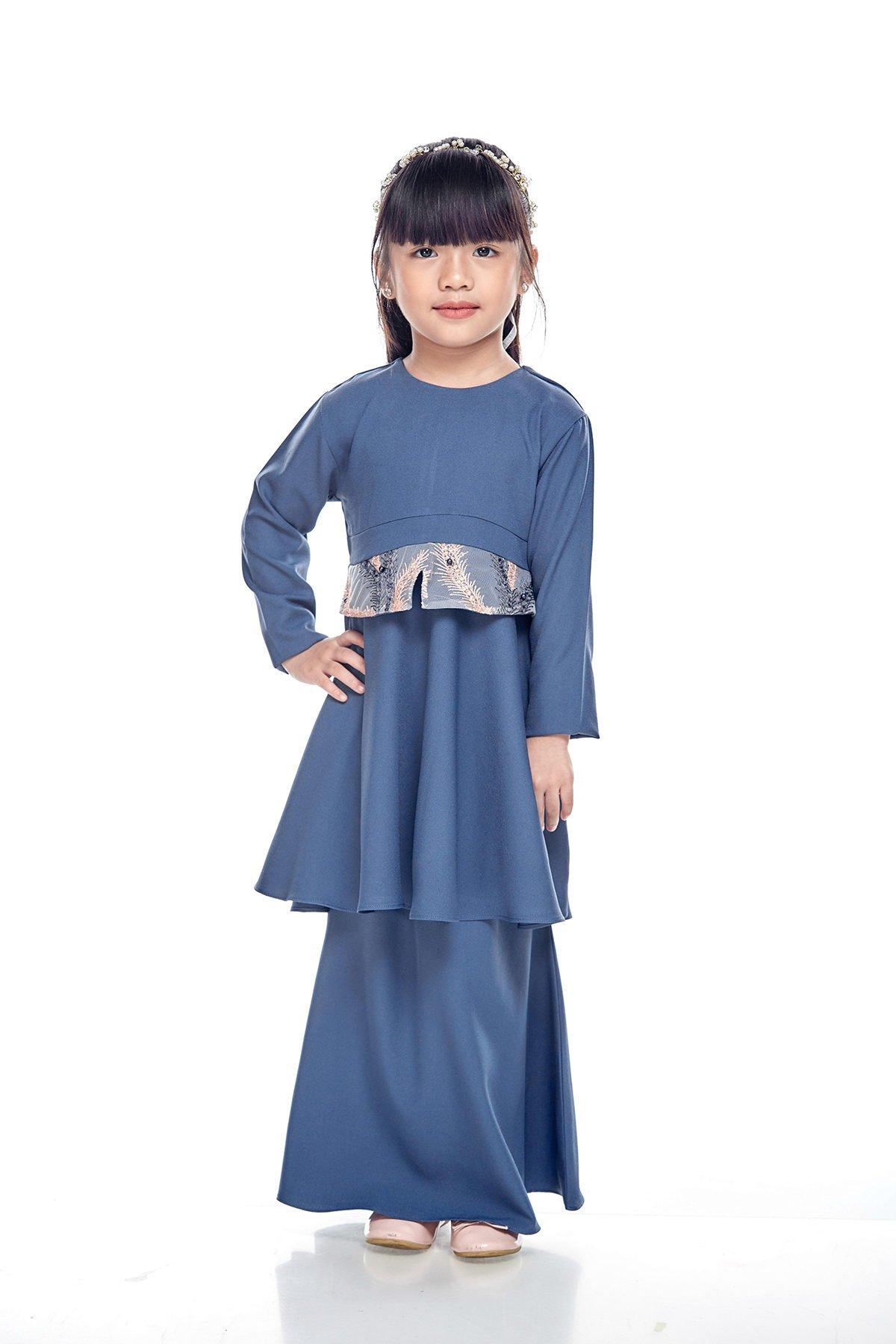 Kurung Moden Merida Kids Cloudy Blue