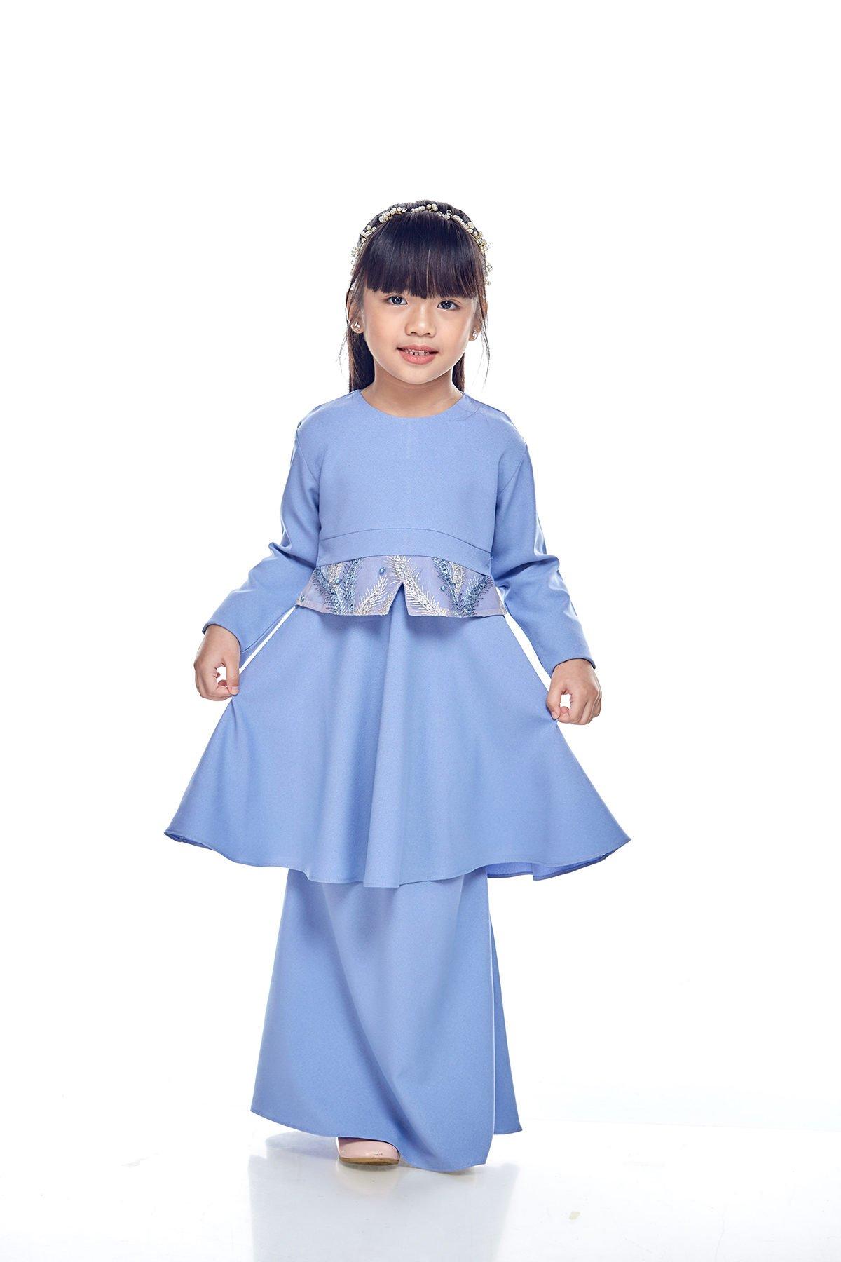Kurung Moden Merida Kids Dusty Blue