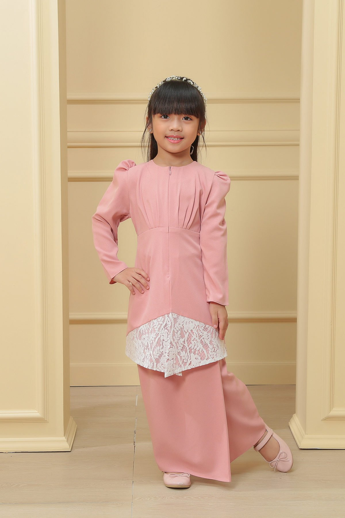 Kebaya Belle 2.0 Kids Pink