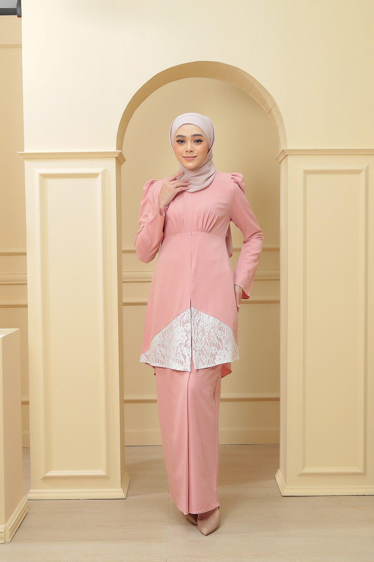Kebaya Belle 2.0 Dewasa Pink