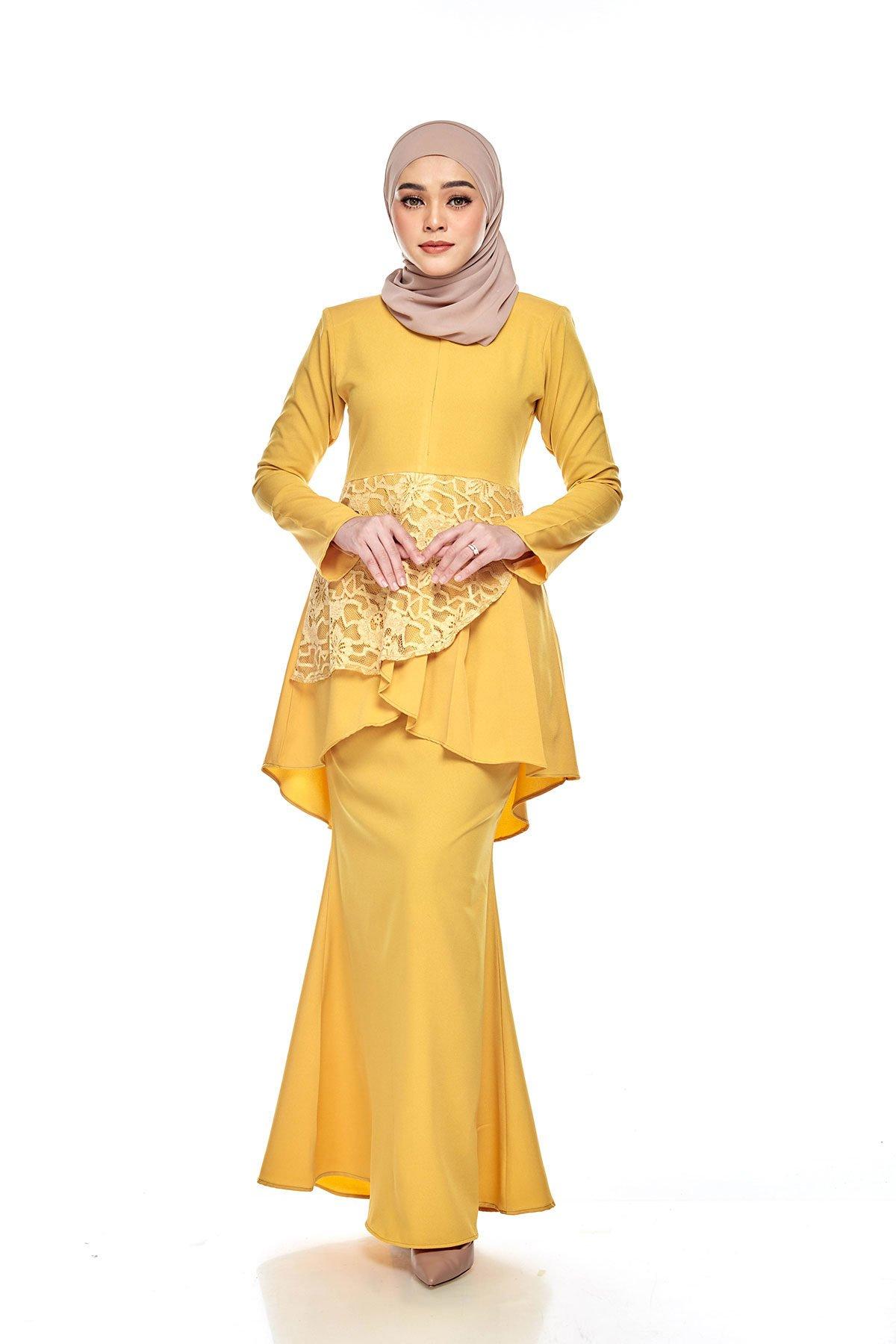 Tiana Peplum Dewasa Yellow Mustard