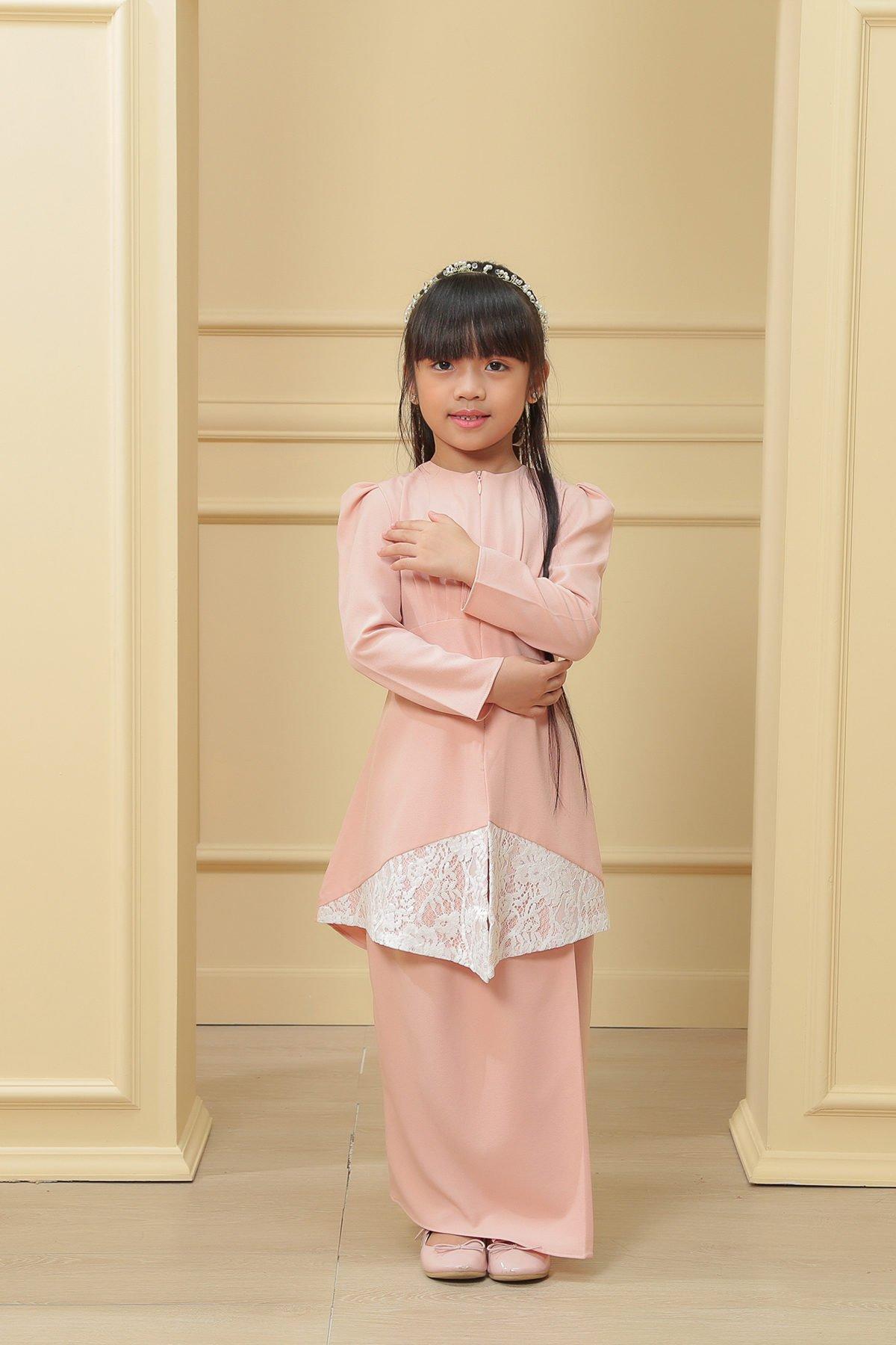 Kebaya Belle 2.0 Kids Peach